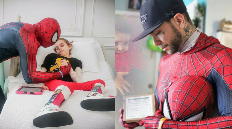 Holding Children As They Take Their Last Breaths Youll Never Feel More Vulnerable Than You Do In That Moment Spider Man Visits 10000 Sick